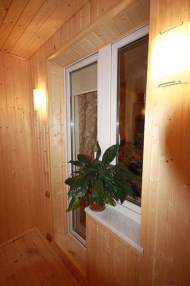 Утепление отделка лоджии или балкона деревом. фото - 2. санк.